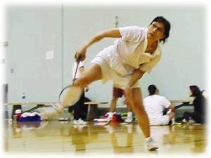 Picture of Elle showing off at badminton